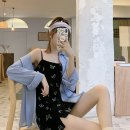Fashion suit Spring 2021 Average size Butterfly dress, blue shirt 18-25 years old 51% (inclusive) - 70% (inclusive) polyester fiber