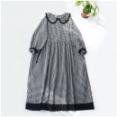 Dress Spring 2021 Black, white Average size Mid length dress singleton  Long sleeves Sweet Doll Collar Loose waist Socket A-line skirt routine Type A 51% (inclusive) - 70% (inclusive) cotton Mori