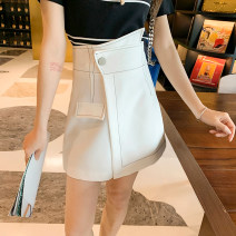 Casual pants white S,M,L Spring 2021 shorts Wide leg pants High waist commute routine 51% (inclusive) - 70% (inclusive) F0405025 polyester fiber pocket polyester fiber Asymmetry