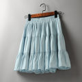skirt Summer 2021 Average size Blue, apricot, black, white, purple Short skirt Versatile High waist A-line skirt Solid color Type A 25-29 years old 51% (inclusive) - 70% (inclusive) brocade Other / other polyester fiber Fold, splice 61G / m ^ 2 (including) - 80g / m ^ 2 (including)