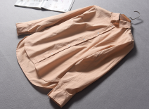 shirt XS,S,M,L Autumn of 2018 cotton 96% and above Long sleeves street Regular other Single row multi button routine Solid color Straight cylinder Other / other Button Europe and America