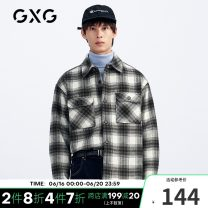 Jacket Fashion City GXG routine standard Other leisure winter GB121695K Long sleeve Wool 52% polyester 48% Lapel youth routine Zipper placket wool 50% (inclusive) - 69% (inclusive) 165/S,170/M,175/L,180/XL,185/XXL,190/XXXL Blue Green Grid