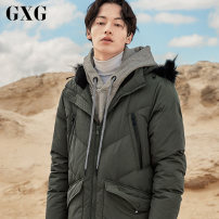 Down Jackets White duck down GXG Youth fashion have more cash than can be accounted for Other leisure GA111250G 90% Wear out Hooded Wear out youth 250g (including) - 300g (excluding) tide Closing sleeve Polyester 100% Solid color 165/S,170/M,175/L,180/XL,185/XXL,190/XXXL Army green