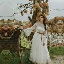 Dress Spring of 2019 white S,M,L longuette singleton  Long sleeves Sweet Pile collar High waist pagoda sleeve Others Type A Maixu More than 95% nylon princess