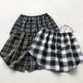 skirt Spring 2021 S,M,L,XL,2XL Short skirt commute High waist A-line skirt lattice Type A 71% (inclusive) - 80% (inclusive) other cotton