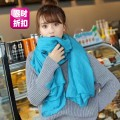 Scarf / silk scarf / Shawl other Royal blue light purple bright pink watermelon red Summer and winter female Shawl other other 90cm 180cm