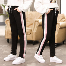 trousers Zaoyangtong female 130cm,140cm,150cm,160cm,170cm Zao-82001-chunqiu pants, zao-92103 black Chunqiu pants, zao-92103 gray Chunqiu pants, zao-a011, zao-a010 spring and autumn trousers motion There are models in the real shooting Sports pants Leather belt middle-waisted nylon 220L Class B