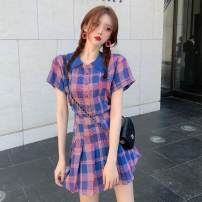 Fashion suit Summer 2020 S, M Top piece, skirt piece 18-25 years old 30% and below