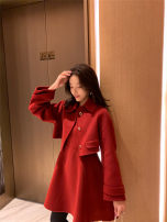 woolen coat Winter of 2018 S,M,L Double faced vest skirt - red, double faced vest skirt - black, short double faced Jacket - red, short double faced Jacket - black other 31% (inclusive) - 50% (inclusive) have cash less than that is registered in the accounts Long sleeves commute Single breasted