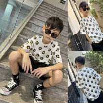 T-shirt summer leisure time There are models in the real shot T1472 male Chen Haoting 4, 5, 6, 7, 8, 9, 10, 11, 12, 13, 14, 14 and above Short sleeve Chinese Mainland white 110, 120, 130, 140, 150, 160, 170
