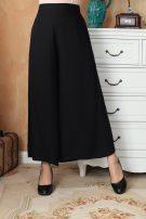 Casual pants black S. M, l, XL, XXL Autumn 2016 trousers Wide leg pants Natural waist Other styles Thin money 96% and above Vinas  hemp cotton