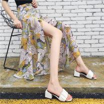 skirt Summer of 2019 longuette Other / other