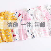 T-shirt Cotton shield neutral summer Short sleeve Crew neck No model nothing cotton Cartoon animation Cotton 100% Class A Sweat absorption 3 months, 6 months, 12 months, 9 months, 18 months, 2 years old, 3 years old, 4 years old Chinese Mainland Hubei province