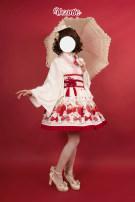 Lolita / soft girl / dress Vcastle White feather weaving, cherry pink feather weaving, black feather weaving, white skirt, cherry pink skirt, black skirt, white suit (6 points in total), cherry pink suit (6 points in total), black suit (6 points in total) Average code, s ~ m, m ~ l Summer, spring