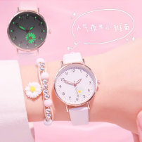 Wristwatch Shop warranty quartz movement  Ulzzang female Leatherwear domestic 3ATM alloy Ordinary glass mirror 8mm 32mm circular Simplicity Pointer type brand new Pin buckle ordinary ordinary other Summer 2020 Luminous
