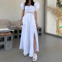 Fashion suit Summer 2020 S, M White [two piece suit], white coat [one piece], white trousers [one piece] 71% (inclusive) - 80% (inclusive)
