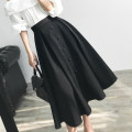 skirt Summer of 2019 XS,S,M,L,XL Black, white Mid length dress commute High waist Umbrella skirt Solid color Type X 18-24 years old K0027 31% (inclusive) - 50% (inclusive) other Special Dorothy Button Korean version