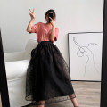 skirt Summer of 2019 S,M,L Black, apricot Mid length dress commute High waist Fluffy skirt Dot Type X 18-24 years old 31% (inclusive) - 50% (inclusive) other Special Dorothy other