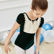 Children's performance clothes Dark green, dark green two piece suit female 110cm,120cm,130cm,140cm,150cm Silkily Class B practice Polyethylene terephthalate (PET) 92% polyurethane elastic fiber (spandex) 8% other 7, 8, 14, 3, 6, 2, 13, 11, 5, 4, 10, 9, 12 Europe and America