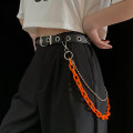 Belt / belt / chain Pu (artificial leather) Separate belt, black chain, green chain, orange chain, white chain, belt + black chain, belt + white chain, belt + orange chain, belt + green chain currency belt Hip hop Single loop Youth, youth Pin buckle chain unclecm