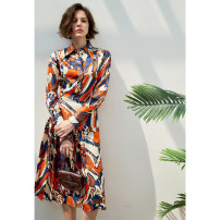Dress Spring 2021 Picture color 6,8,10 Mid length dress singleton  Long sleeves commute other High waist Decor Socket other routine Others 25-29 years old Type X Pig house / gentle pig lady VB2103CQ213 More than 95% other silk