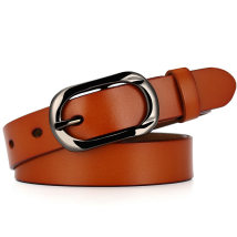 Belt / belt / chain Double skin leather Red black brown Camel female belt Versatile Single loop youth Pin buckle Patent leather alloy ZK--052