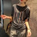 T-shirt White, black M,L,XL,2XL,3XL Summer 2021 Short sleeve Crew neck easy Regular raglan sleeve commute other 71% (inclusive) - 85% (inclusive) 30-39 years old Korean version Clothing music A0994 Diamond inlay