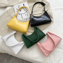 Bag The single shoulder bag PU baguette  Ruvanni brand new Japan and South Korea Small leisure time soft zipper no Solid color Single root One shoulder hand nothing youth Horizontal square Sewing Soft handle soft surface