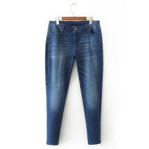 Jeans Summer 2020 Blue, black 6 (130-140), 12 (150-160), 14 (170-180), 16 (190-200), 18 (210-220), 20 (230-240), 22 (250-260), 24 (270-280), 26 (290-300), 28 (310-320) trousers High waist Pencil pants routine