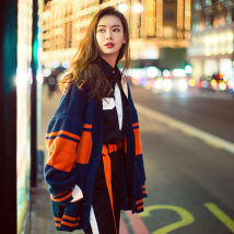 Wool knitwear Autumn of 2018 S M L XL Picture color Long sleeves singleton  Cardigan other 51% (inclusive) - 70% (inclusive) Regular routine commute easy V-neck routine Color matching Single breasted Korean version Qi Wei's same sweater 18-24 years old Other / other