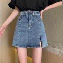 skirt Spring 2020 S [80-95 kg], m [95-105], l [105-115 Jin], XL [115-125 Jin], 2XL [125-140 Jin], 3XL [140-160 Jin], 4XL [160-180 Jin], 5XL [180-200 Jin] Blue, black Short skirt commute High waist A-line skirt other Type A 18-24 years old 31% (inclusive) - 50% (inclusive) other Other / other other