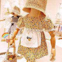 Dress yellow female Other / other 80cm,90cm,100cm,110cm,120cm Cotton 80% other 20% cotton other 3 years old