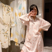 Nightgown / bathrobe Other / other female M, L Pears, peaches, roses Thin money Sweet viscose  autumn More than 95% Medium length (knee to Mid Calf) other Plants and flowers youth printing