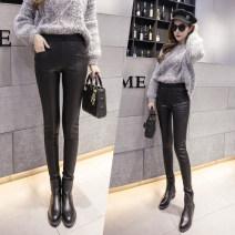 Leggings Winter 2020 Black (without velvet), black (with velvet) 3XL, s (exclusive), m (exclusive), l (exclusive), XL (exclusive), XXL (exclusive) routine trousers DT-06 skin