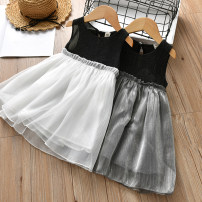 Dress White grey Other / other female 100cm(M)7 110cm(L)9 120cm(XL)11 130cm(XXL)13 90cm ( 5 ) Other 100% summer princess Skirt / vest eighteen thousand and five Class B