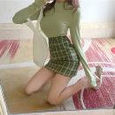 skirt Autumn of 2018 S. M, l, average size Short skirt High waist A-line skirt Type A Other / other
