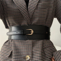 Belt / belt / chain Pu (artificial leather) Black, Khaki female belt Versatile Single loop Youth, youth, middle age Pin buckle other soft surface 6cm alloy Naked, elastic Other / other 8 rows with belt