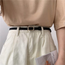 Belt / belt / chain Pu (artificial leather) Black, brown female belt Versatile Single loop Youth, youth Pin buckle other Frosting 1.2cm alloy Naked, frosted Liu Wuwei Small gold head long slim belt