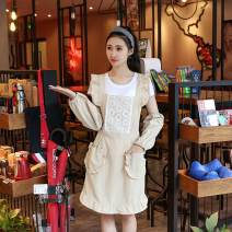 apron Sleeveless apron antifouling Korean version pure cotton Household cleaning One size fits all WQW public Other yes Idyllic