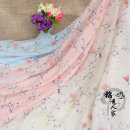 Fabric / fabric / handmade DIY fabric silk Loose shear rice Plants and flowers jacquard weave clothing Chinese style