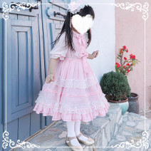 Dress Blue, pink, pink band, blue band female Other / other 90cm,110cm,120cm,130cm,140cm Other 100% summer princess Short sleeve A-line skirt Class B 2, 3, 4, 5, 6, 7, 8, 9, 10, 11, 12, 13, 14 years old Chinese Mainland