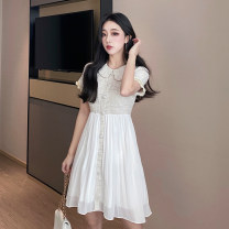 Dress Spring 2021 Graph color S,M,L Middle-skirt singleton  Short sleeve commute Polo collar routine 25-29 years old Type A Korean version 31% (inclusive) - 50% (inclusive) polyester fiber