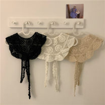 Scarf / silk scarf / Shawl cotton White shawl, apricot shawl, black shawl summer female Shawl sunshade Korean version triangle Youth, youth, middle age Solid color Hollowing out 20cm 117cm 51% (inclusive) - 70% (inclusive)