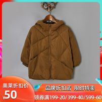 Cotton padded jacket female No detachable cap polyester 9 Charms Gray, brown 90cm,100cm,110cm,115cm,120cm,130cm,140cm,150cm,160cm,98,104,92,116 routine Zipper shirt Solid color other 9m 2 years old, 3 years old, 4 years old, 5 years old, 6 years old, 7 years old