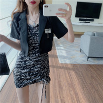 Fashion suit Summer 2021 S,M,L Jacket, suspender skirt 18-25 years old