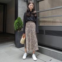 skirt Autumn of 2018 S M Dark Beige light beige