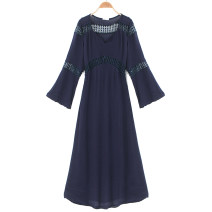 Dress Summer 2020 E01 white dress zey, G04 dark blue dress zey Average size Mid length dress Long sleeves Half open collar pagoda sleeve 81% (inclusive) - 90% (inclusive) other