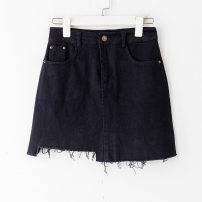 skirt Summer 2020 S,M,L Black, white, apricot, red Short skirt commute A-line skirt Solid color 18-24 years old 81% (inclusive) - 90% (inclusive) other other Pocket, asymmetric, button, stitching Korean version