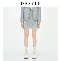 skirt Spring 2021 XS S M wathet Short skirt commute Natural waist A-line skirt Type A 30-34 years old 2D1S2063R 31% (inclusive) - 50% (inclusive) Dazzle / geoelement cotton zipper Retro Cotton 43% wool 20% polyacrylonitrile 18% polyester 17% others 2%