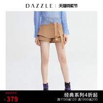 Casual pants Deep Khaki 25 26 27 Spring of 2019 shorts Straight pants Natural waist commute routine 30-34 years old 96% and above Dazzle / geoelement Simplicity belt Polyester 100% Same model in shopping mall (sold online and offline)